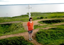 Лена Воронова на Александровой горе